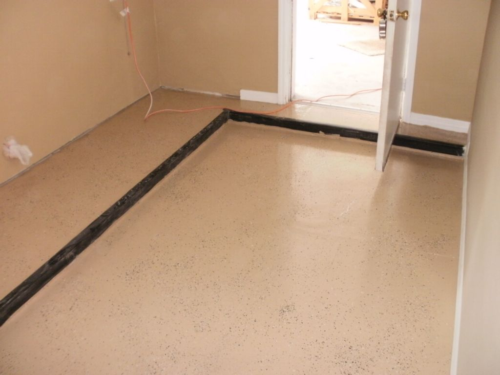 applied epoxy laundry room